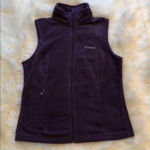 Columbia Purple Fleece Vest Medium Excellent